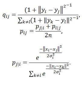 Метод t-SNE - стохастическое соседское вложение с распределением Стьюдента